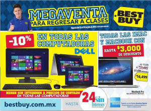 Folleto Best Buy Regreso a Clases del 23 al 29 de Julio