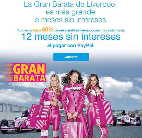 Liverpool meses sin intereses con Paypal