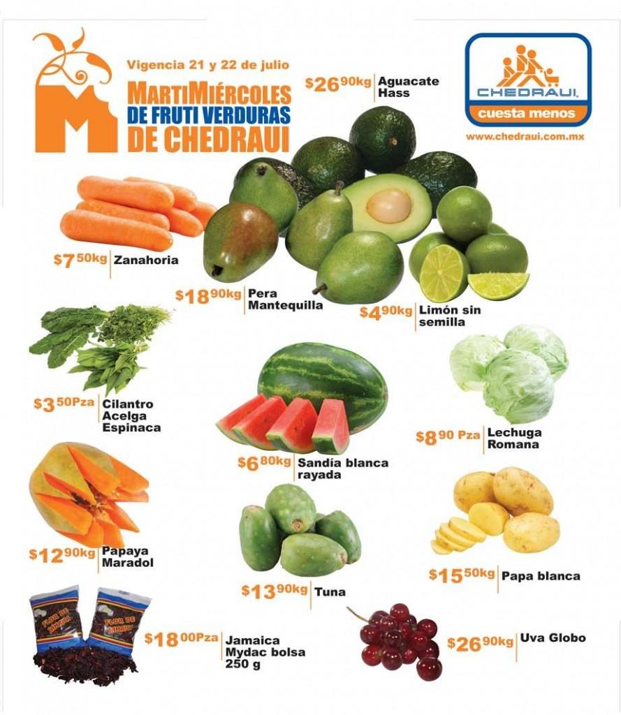 ChedrauiOfertas de Frutas y Verduras al 22 de Julio