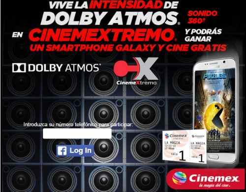 Promocion Cinemex Extremo Gana Samsung Galaxy