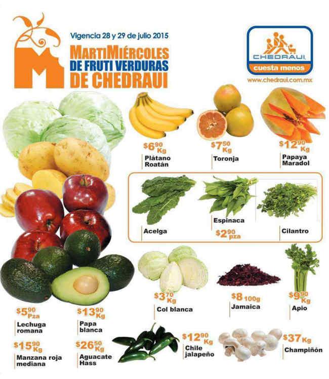 Chedraui Ofertas de Frutas y Verduras