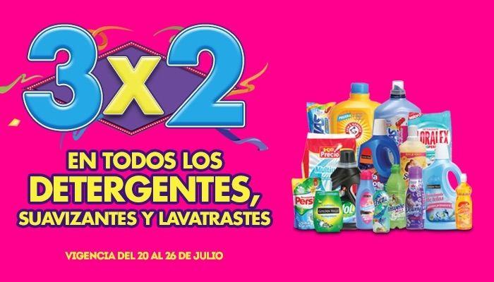 Julio Regalado La Comer detergentes, suavizantes y lavatrastes