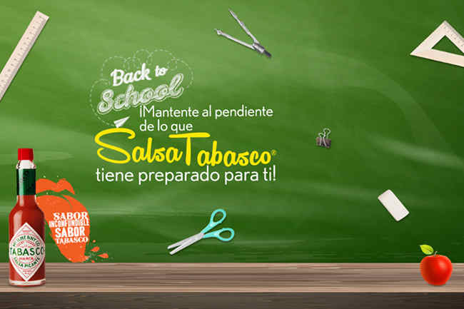 Promocion Salsa Tabasco Back to School