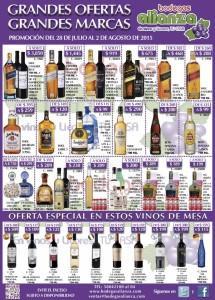 Bodegas Alianza ofertas de bebidas al 2 de agosto