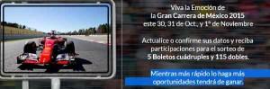Sorteo Santandergana boletos para la carrera de México