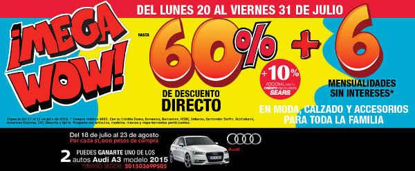 Promoción Sears gana un auto Audi A3