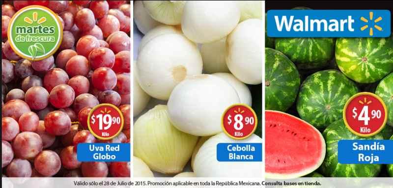 Walmart Martes de Frescura Julio 28