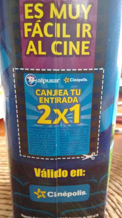 2x1 en Cine Cinépolis con Leche Alpura