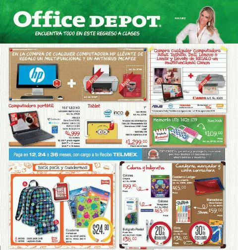 Folleto Office Depot Agosto 2015