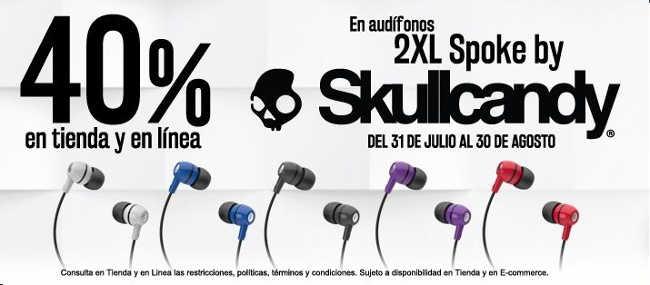 Blockbuster: Audifonos Skullcandy 2xl Spoke a solo $99