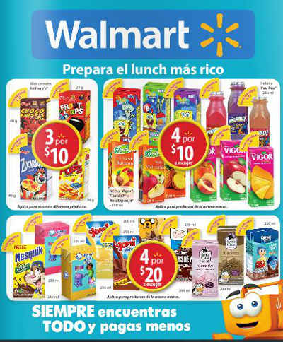 Folleto Walmart Agosto 2015