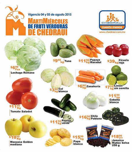Chedraui Ofertas de Frutas y Verdura