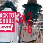 Levis 3×2 en Artículos seleccionados más 6 msi