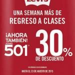 Levis Promocion Regreso a clases 2015