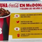 McDonalds Regala Coca Cola GRATIS con Twitter