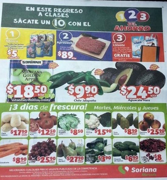 Ofertas de Frutas y Verduras en Mercado Soriana