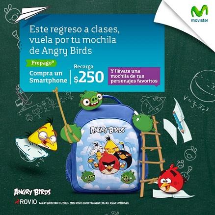 Movistar Mochila de Angry Birds o Frozen Gratis