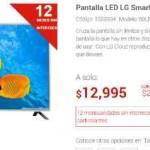 "Elektra pantalla Led LG con Smart TV 60"" $12,995"