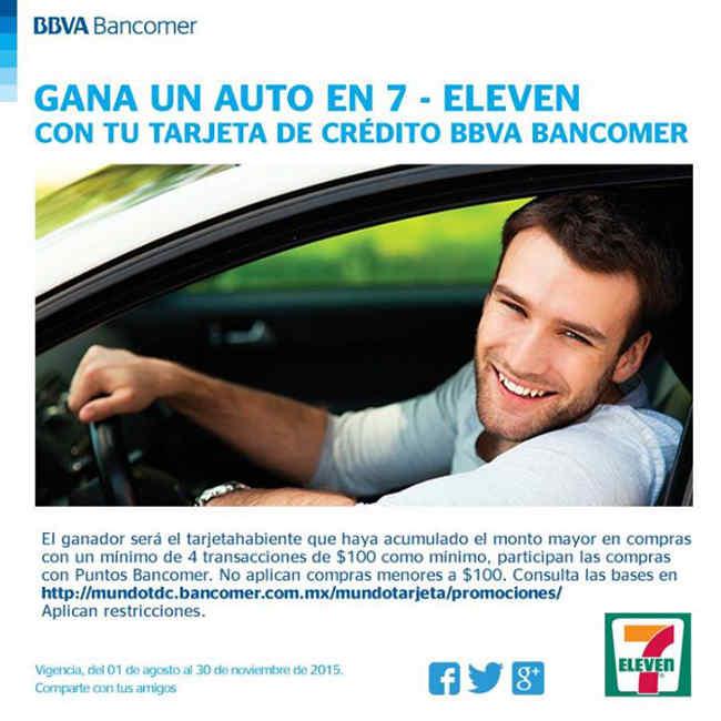 Promocion 7-Eleven y Bancomer Gana un Automovil