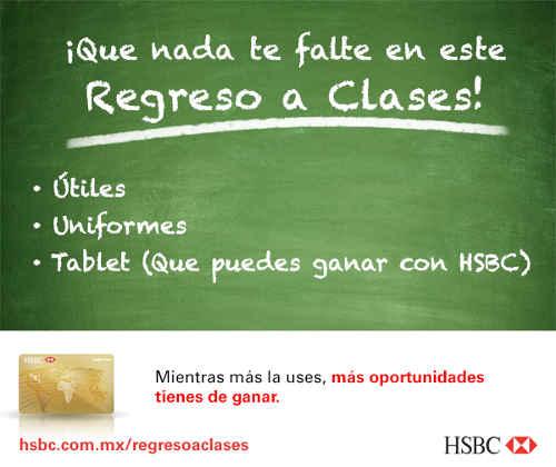 Promoción Regreso a Clases HSBC Gana Tablets