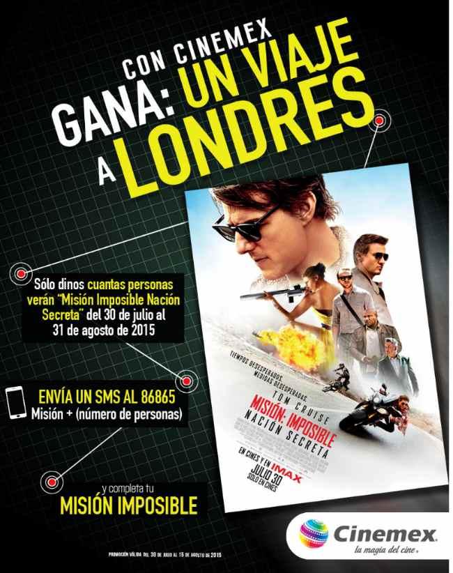 Promocion Cinemex Misión Imposible gana un viaje a Londres