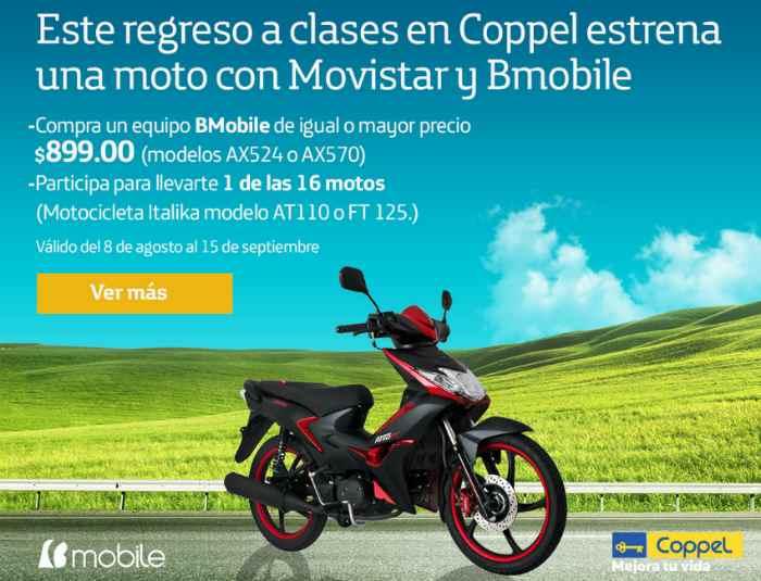 Promocion Coppel y Movistar Gana Motocicleta Italika