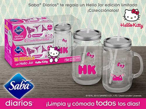Saba te Regala Mason Jar de Hello Kitty GRATIS