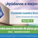 Sams Club Gratis Rebanada Pizza Con Encuesta