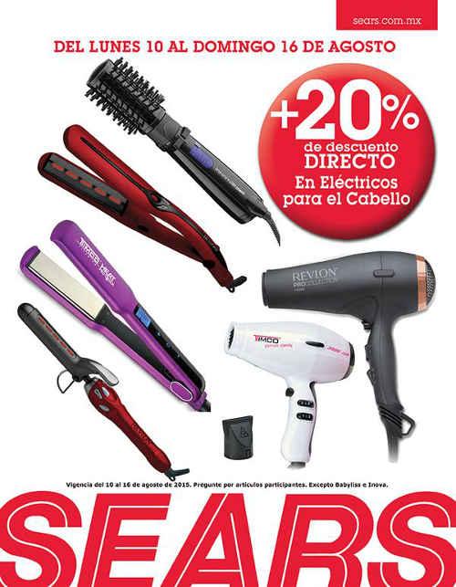 Sears descuento en eléctricos para cabello