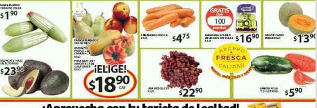 Ofertas de frutas y verduras en Soriana
