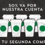 Starbucks descuento en tu segunda compra con Visa