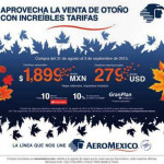 Aeroméxico Gran Venta de otoño 2015