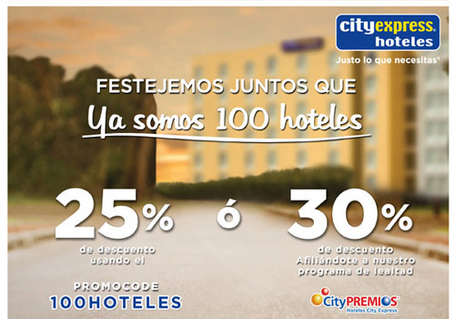 Hoteles City express: Venta Especial con 25% de Descuento