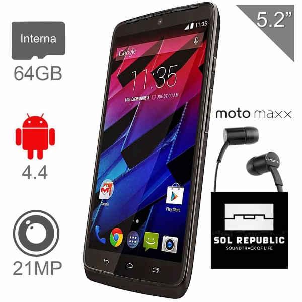 Walmart Motorola Moto Maxx más Audifonos Sol Republic de cortesia