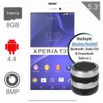 Walmart Sony Xperia T3 Blanco 8GB incluye Bocina Bluetooth