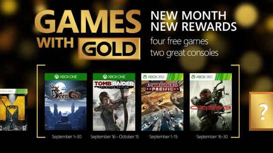 Xbox Live Gold Gratis Juegos Septiembre 2015