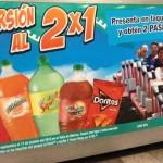 La feria de Chapultepec Pase Mega al 2×1 con Doritos Sabritas y Refresco Barrilitos, Mirinda, Squirt o Manzanita Sol