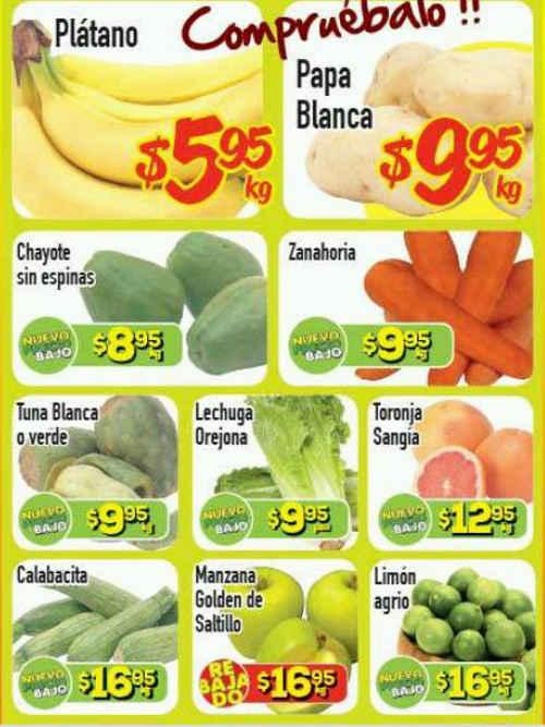 HEB Ofertas de Frutas y Verduras del 15 al 17 de Septiembre