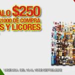 La Comer Te regala $250 pesos por cada $1,000 de compra en Vinos y Licores
