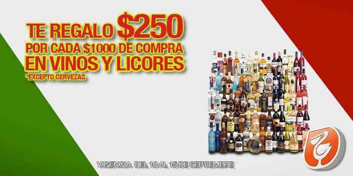 La Comer: Te regala $250 pesos por cada $1,000 de compra en Vinos y Licores