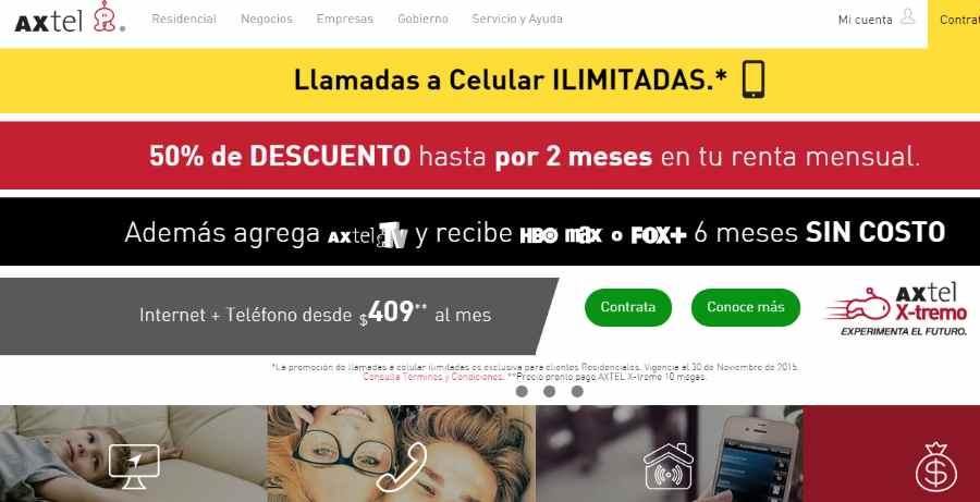 Axtel Gratis 6 meses en paquetes HBO Max o Fox+