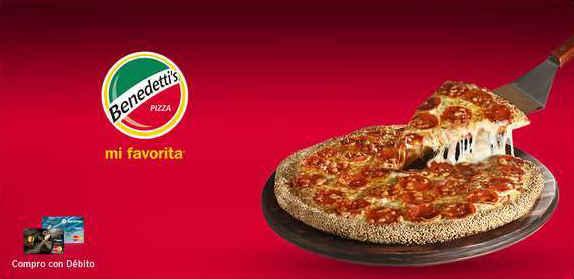 Benedetti's Pizza 2×1 en Pizzas grandes y medianas