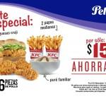KFC Cupón de 6 piezas, 2 hamburguesas y 2 papas $159