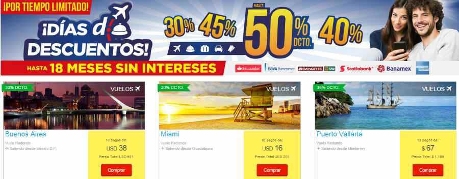 Despegar.com descuento y MSI en Viajes y Hoteles