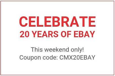 eBay Promoción de 20 aniversario Cupón de descuento