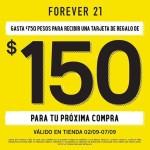 $150 de regalo en tu próxima compra en Forever 21