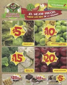 Bodega Aurrera Frutas y Verduras Tianguis de Mamá Lucha