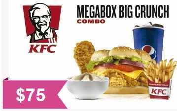 KFC: Cupón de descuento megabox a buen precio