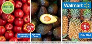 Walmart: Martes de Frescura Frutas y Verduras 29 Septiembre