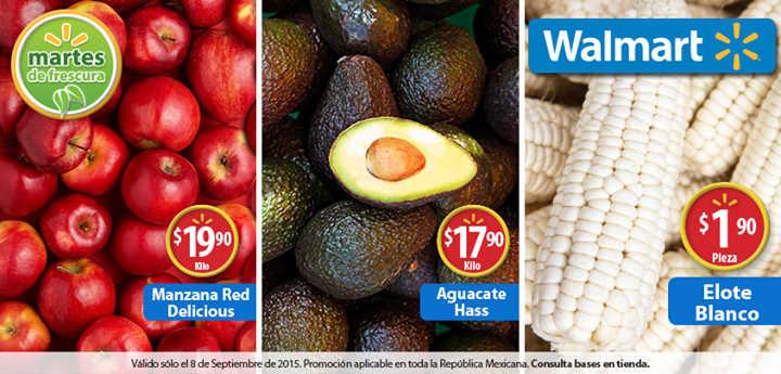 Walmart Martes de Frescura Frutas y Verduras